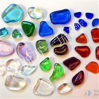 彩色透明琉璃石子,水晶玻璃石子