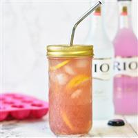 浮雕菱格饮料杯梅森杯带盖沙拉罐