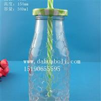 340ml饮料果汁玻璃瓶