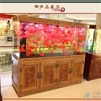 張家港大型魚缸定做高等紅木花梨