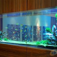 張家港酒店鑲嵌式自然魚缸定制