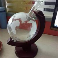 木架玻璃地球儀醒酒器地球儀酒瓶