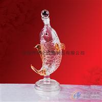 鲤鱼造型玻璃酒瓶空心玻璃鱼造型酒瓶玻璃鱼造型酒瓶