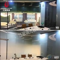 定制 會議室調光玻璃隔斷 家居用電控霧化玻璃