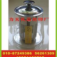 力天玻璃茶壶印字 玻璃罩印logo 分酒器丝印字