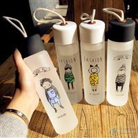 玻璃杯便携磨砂杯子女学生创意韩国水瓶可爱潮流茶杯,江苏荣泰玻璃制品有限公司,玻璃制品,发货区:江苏 徐州 铜山县,有效期至:2020-11-28, 最小起订:100,产品型号: