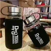 创意玻璃水杯太空杯便携式透明水杯