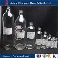 供應透明100-1000ml波斯頓瓶口玻璃瓶