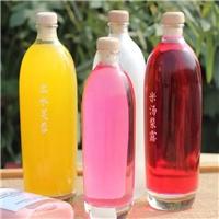 玻璃瓶蓝梅汁瓶饮料瓶果汁瓶