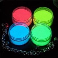 彩色夜光粉綠色、藍色、顏色、紅色夜光粉