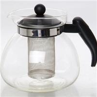 凉水壶耐热直火烧水泡茶不锈钢过滤网玻璃杯