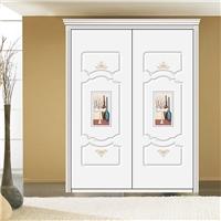 厂家直销衣柜板材  密度板 皮雕系列