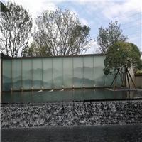 夾山水畫玻璃 園林山水畫玻璃 屏風夾畫玻璃