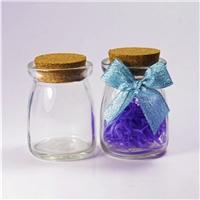 现货批发布丁玻璃瓶 装饰奶瓶 许愿瓶DIY制作