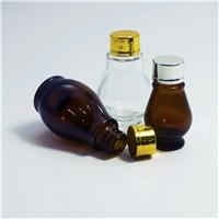 单葫芦玻璃瓶茶色精油瓶批发