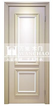 双层中空玻璃扣线实木烤漆门/沈阳新图带报价