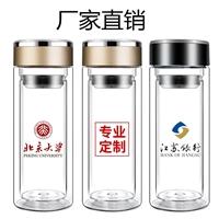 廠家直銷定制雙層廣告杯玻璃杯禮品杯商務杯