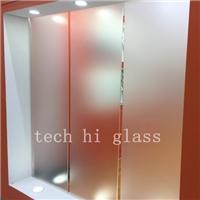 蒙砂玻璃 酸洗玻璃 淋浴房 装饰玻璃 厂家定做