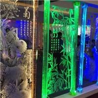 激光内雕玻璃梅兰竹菊