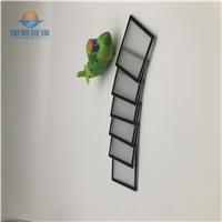 廠家供應3mm厚黑色絲印燈具玻璃,耐高溫燈具玻璃