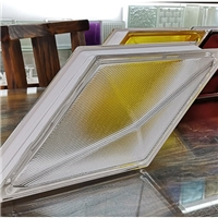 20*40*8cm超大菱形空心玻璃砖