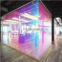 广州炫彩玻璃幻彩玻璃 变色炫彩钢化玻璃