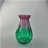 玻璃花瓶彩色简约折纸花瓶插花瓶干花艺术花瓶