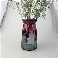 玻璃花瓶满天星透明彩色鲜花瓶工艺品欧式家居花瓶摆件
