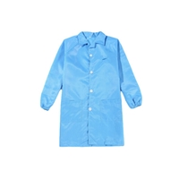 防靜電大褂 條紋大褂靜電服 藍色無塵服