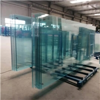 河南19毫米超白钢化玻璃展厅幕墙