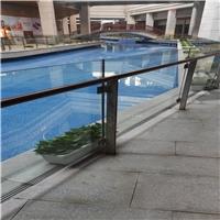 护栏玻璃定制 商场楼梯扶手玻璃