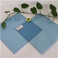 供应4mm浮法福特蓝玻璃