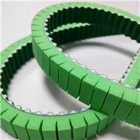 贴标机专项使用齿面加绿布背面加发泡膜聚氨酯同步带