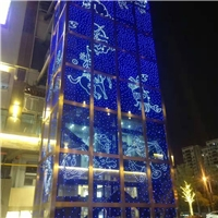 廠家led發光玻璃 光電七彩發光玻璃