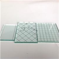 加铁丝玻璃隔断 防爆单层玻璃
