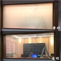 酒店家庭卫浴隔断玻璃 通透型电控雾化玻璃