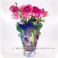 广州琉璃花瓶定制 古法琉璃花瓶厂家 家居摆件工艺品