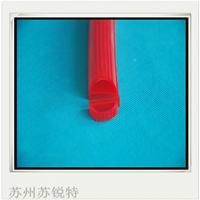 供应红色硅胶E型耐高温密封条