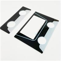 圓形CNC鉆孔絲印玻璃 電子設備透明顯示窗絲印玻璃