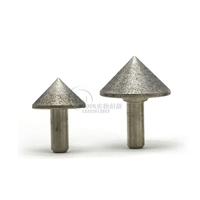 电镀锥形带柄砂轮 内孔倒角90度CBN磨棒 伞形打磨器
