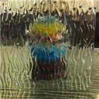 厂家制作 异形热熔玻璃 热熔艺术装饰玻璃 浴室隔断