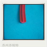 红色硅胶T型耐磨损皮条