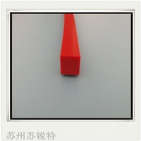 红色硅胶矩形发泡防尘密封条