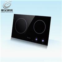 供应烤箱耐高温玻璃壁炉微晶面板