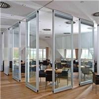 呼和浩特活动玻璃隔断,玻璃推拉折叠隔断