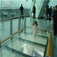 玻璃栈道安全防滑玻璃 防滑纹夹胶钢化玻璃