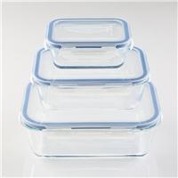 長方形 玻璃保鮮盒 玻璃碗  玻璃容器  高硼硅 耐熱玻璃