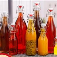 玻璃瓶乐扣密封瓶果汁饮料瓶酵母瓶