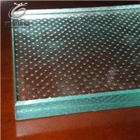 高透防滑小圆点钢化玻璃地板厂家定制