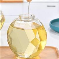 玻璃瓶菱型蜂蜜瓶燕窝玻璃瓶蓝梅酱瓶
